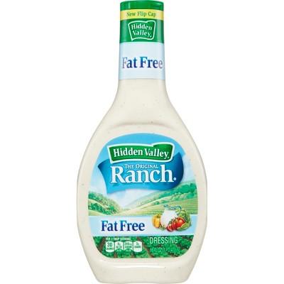 Hidden Valley Original Ranch Fat Free Salad Dressing & Topping - Gluten Free - 16oz Bottle