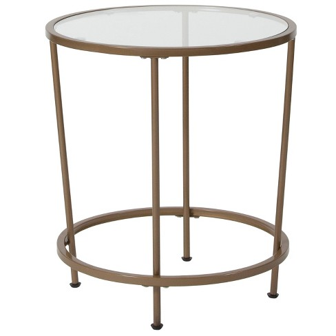 Astoria End Table Gold - Riverstone Furniture - image 1 of 2