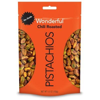 Wonderful Pistachios No Shells Chili Roasted - 5.5oz