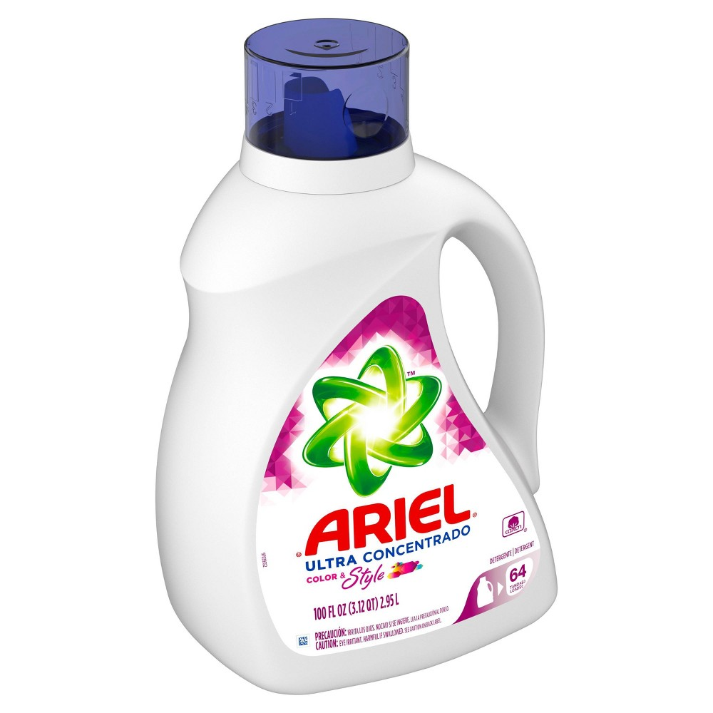 Ariel Ultra Concentrated Color 38 Style Liquid Laundry Detergent 100 Fl Oz