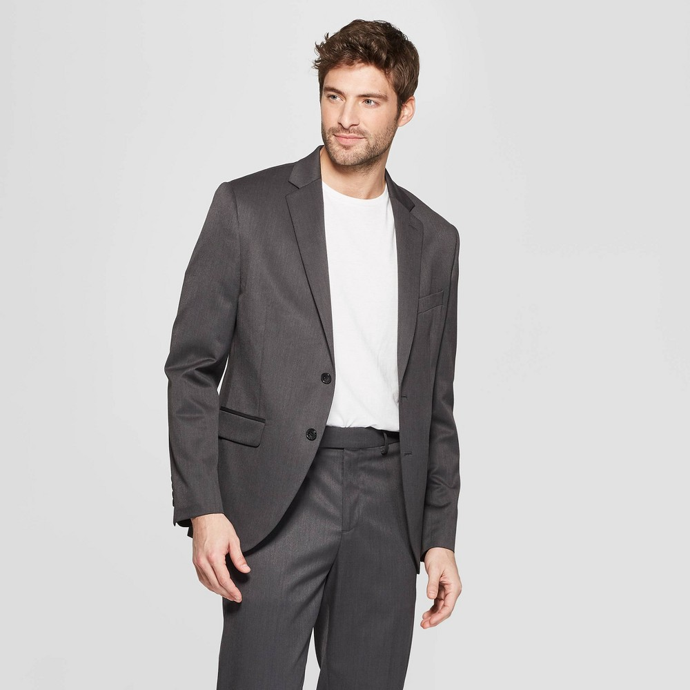 Men's Slim Fit Suit Jacket - Goodfellow & Co Dark Gray 36S