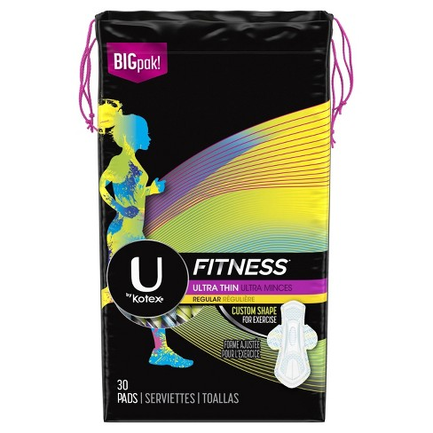 U By Kotex Fitness Ultra Thin Regular Pads - 30ct - image 1 of 4