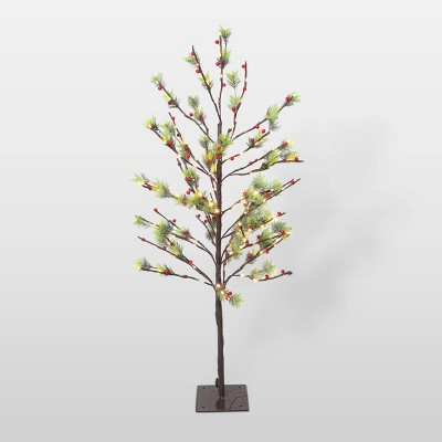 4ft Pre-Lit LED Artificial Christmas Twig Tree - Puleo