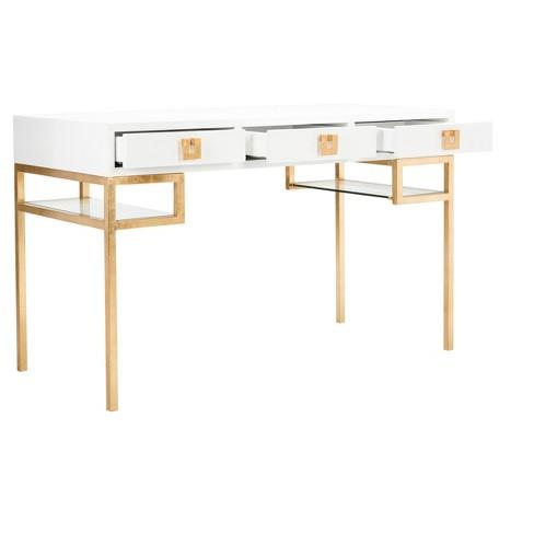 Writing Desk White Gold Safavieh Target