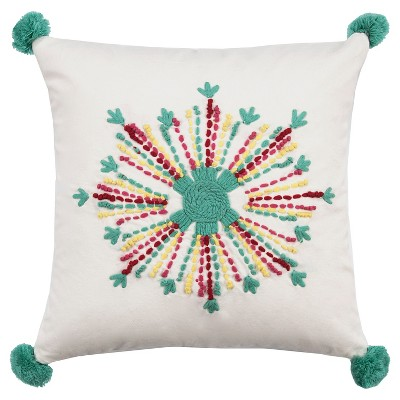 Flower Medallion Throw Pillow (18 x18 )- Rizzy Home®