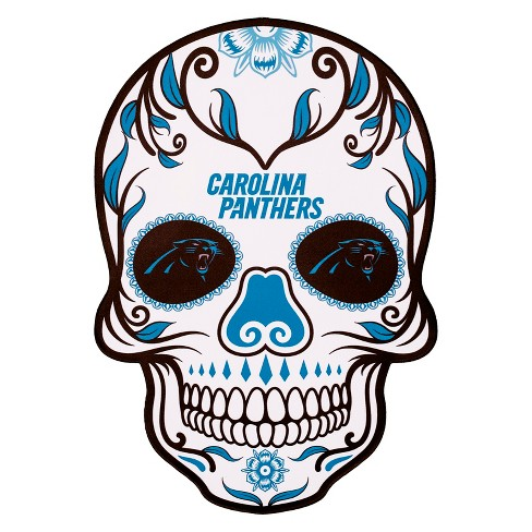 NFL Carolina Panthers Small Outdoor Skull Decal - image 1 of 2