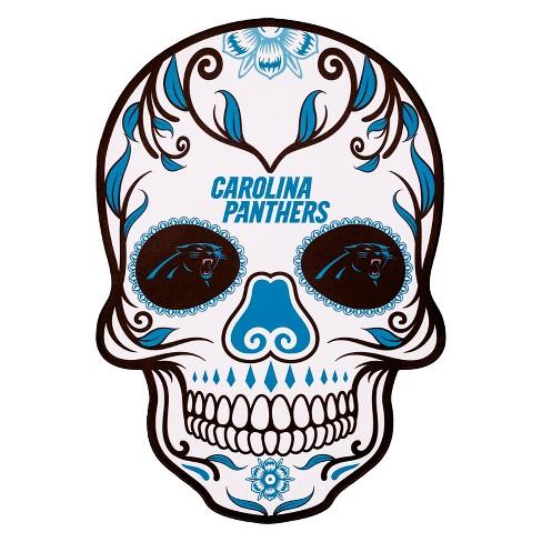 Nfl Carolina Panthers Large Outdoor Skull Decal Target