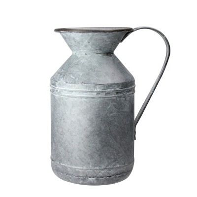 """Raz Imports 13"""" Rustic Galvanized Rusted Metal Christmas Pitcher"""