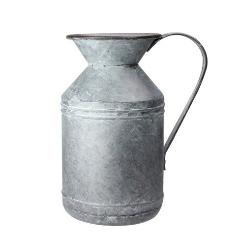 """Raz Imports 13"""" Rustic Galvanized Rusted Metal Christmas Pitcher - image 1 of 3"""