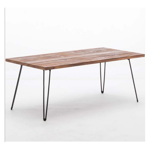 Leonardo Cocktail Table Weathered Fir & Black - Boraam - image 1 of 4