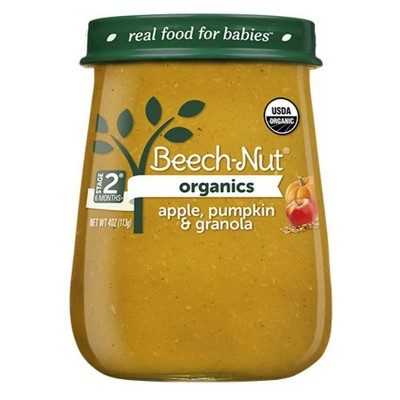 Beech-Nut Organics Apple, Pumpkin & Granola Baby Food Jar - 4oz