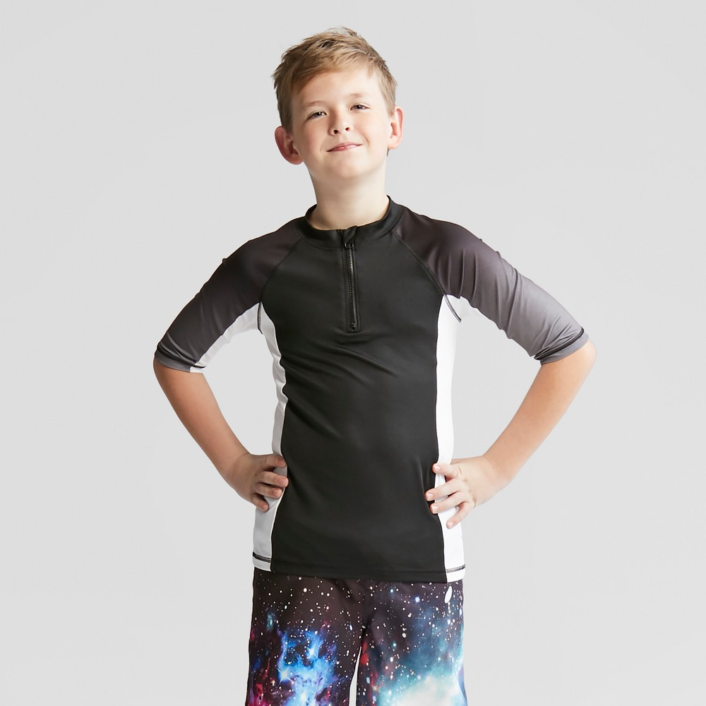 Boys' Quarter Zip Rash Guard - Cat & Jack Black XL