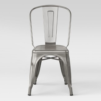 Carlisle High Back Metal Dining Chair Silver Fully Assembled - Threshold™