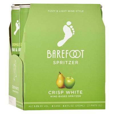 Barefoot Refresh Crisp White Wine-Based Spritzer - 4pk/250ml Cans