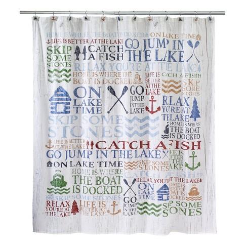 Lake Words Shower Curtain - Avanti® - image 1 of 1