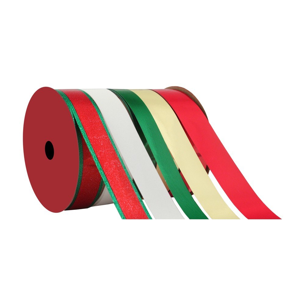 5ct Green/Red/Gold Flat Ribbon - Wondershop