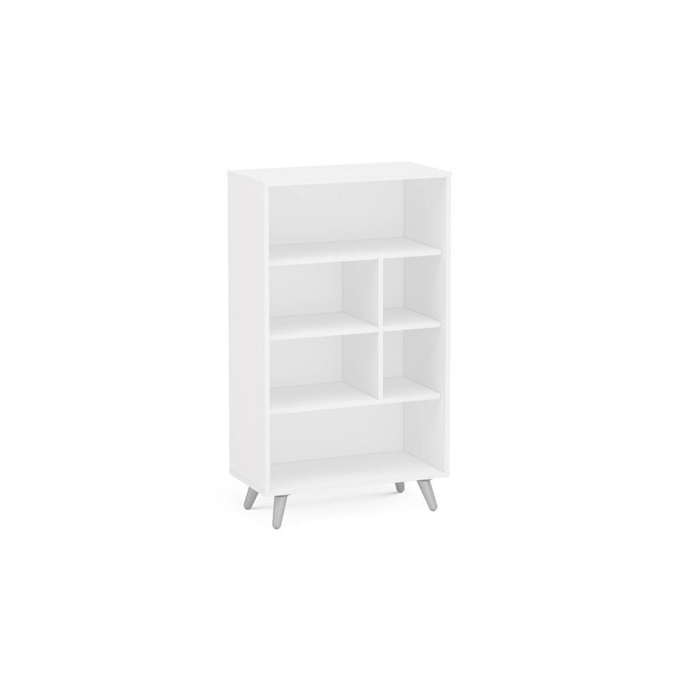 40 75 34 Monterey 4 Shelf Bookshelf White Chique