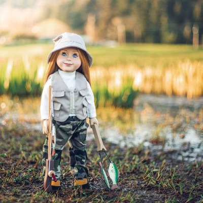 """The Queen's Treasures 18"""" Doll Fishing Outfit and Fishing Accessory Set"""