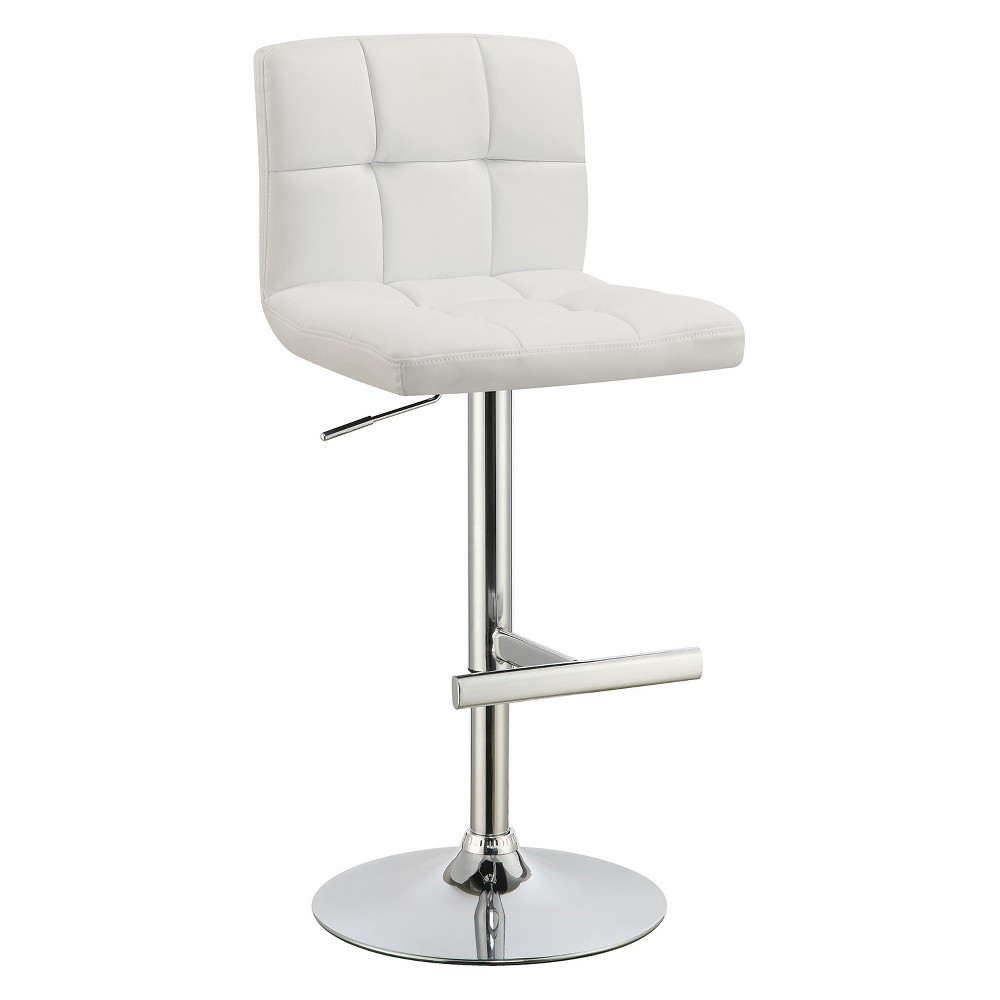 Private Reserves Set of 2 Adjustable Bar Stool White