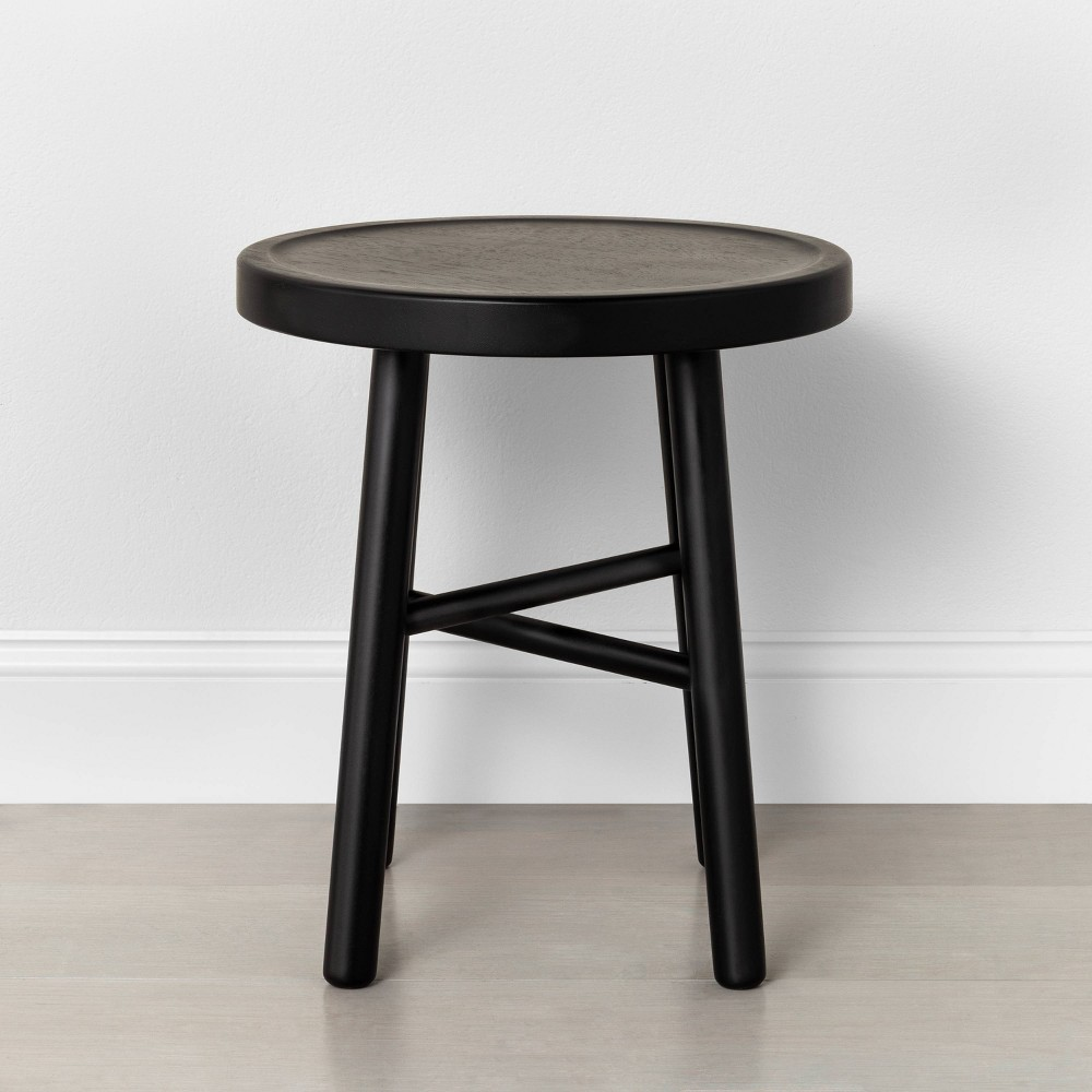 Image of Shaker Accent Stool Black - Hearth & Hand with Magnolia