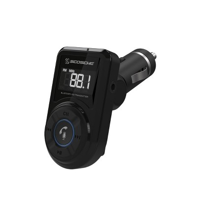 Scosche Bluetooth FM Transmitter (2.4A/12W 1-Port USB-A) - Black