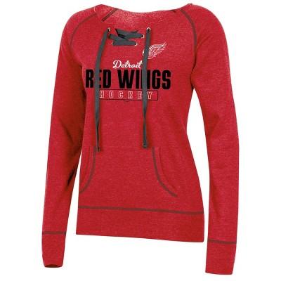 NHL Detroit Red Wings Women's Center Ice Open Neck Fleece Sweatshirt - S