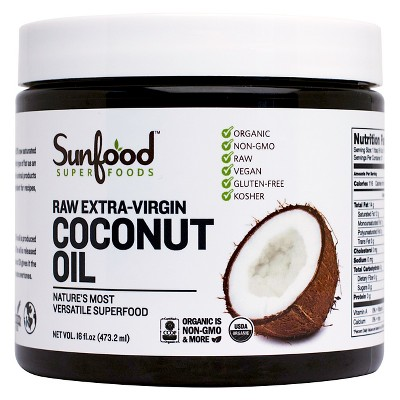Sunfood Organic Raw Extra-Virgin Coconut Oil - 16 oz