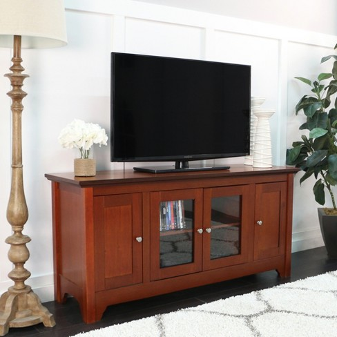 """Solid Wood TV Stand with Doors 52"""" - Saracina Home - image 1 of 3"""