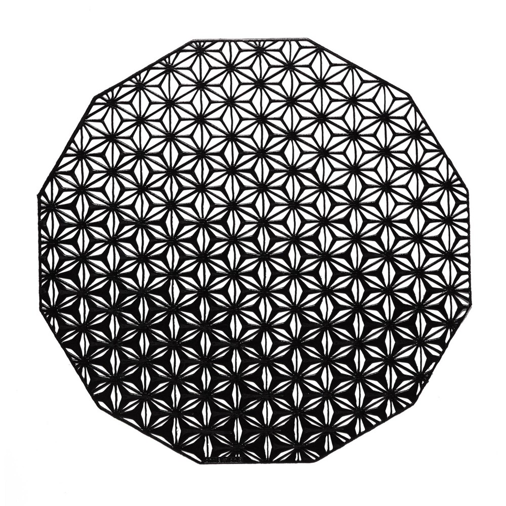 Compare 4pk Pressed Kaleidoscope Placemats Black - Chilewich