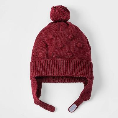 Baby Girls' Bobble Hat - Cat & Jack™ Red Newborn