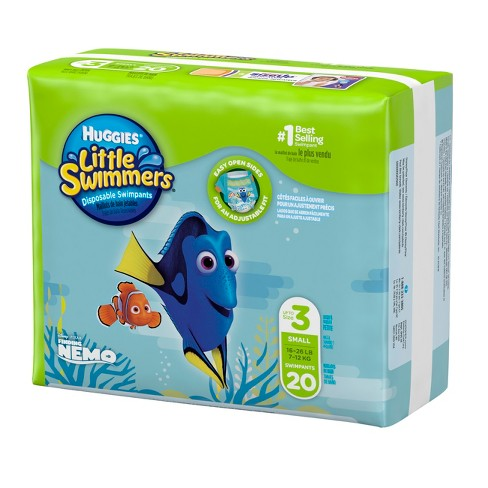 huggies little swimmers disposable swimpants size s 20ct target