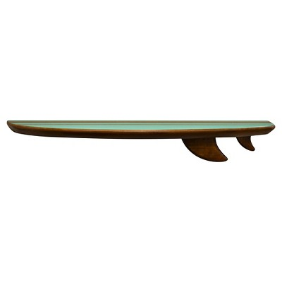 "24""x5"" Surf Board Wall Shelf Brown/Green - Pillowfort™"