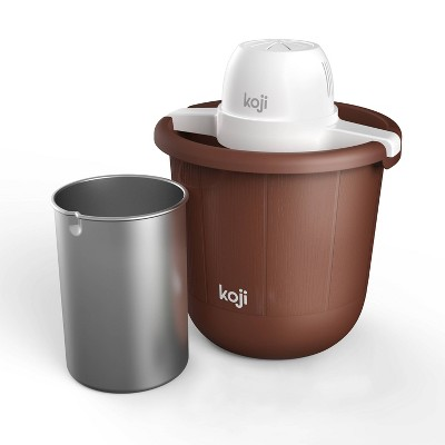 Koji 4qt Bucket Ice Cream Maker - Brown