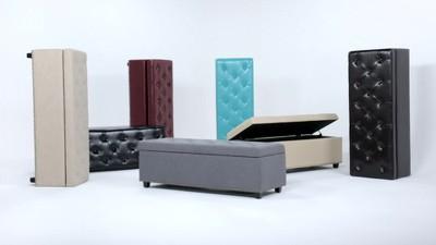 "48"" Springfield Storage Ottoman Linen Look Fabric - Wyndenhall : Target"