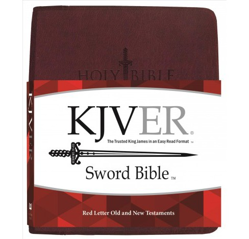 Holy Bible : King James Version Easy Read Sword Value Thinline Bible Personal Size Burgundy Ultrasoft - image 1 of 1