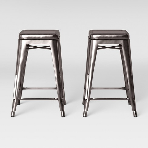 Pleasant Set Of 2 Carlisle Backless Swivel Counter Stool Silver Threshold Alphanode Cool Chair Designs And Ideas Alphanodeonline