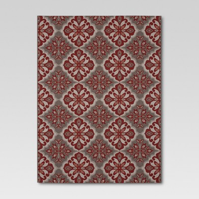 Mosaic Red Outdoor Rug - 8'x10' - Threshold™