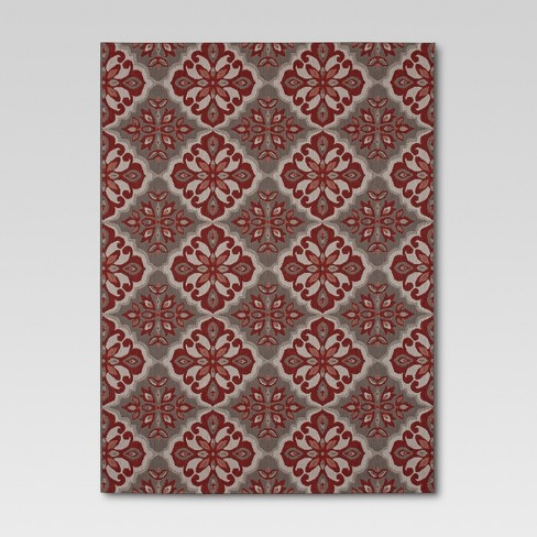 Mosaic Red Outdoor Rug 8 X10 Threshold Target