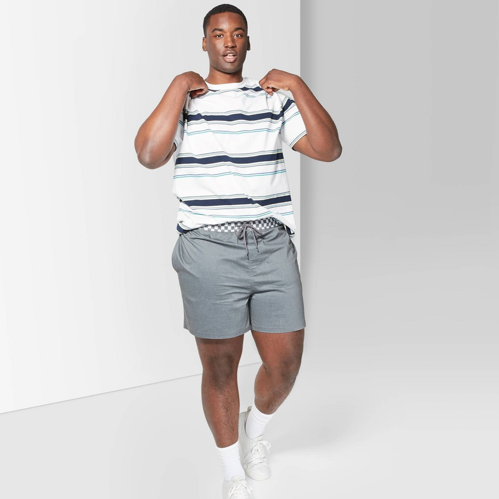Men's Big & Tall 5.5 Striped Tyler Board Shorts - Original Use Black 4XB