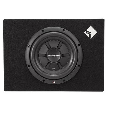 "Rockford Fosgate R2S-1X10 10"" 400W Shallow Car Audio Subwoofer with Enclosure"