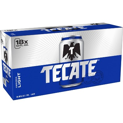 Tecate Light Mexican Lager Beer - 18pk/12 fl oz Cans