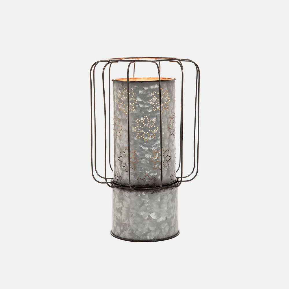 Image of Small Dorian Candle Holder - Foreside Home & Garden, Gray