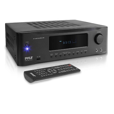 Pyle PT694BT 1000 Watt 5.2 Channel Bluetooth Amplifier Stereo Receiver System with 4K Ultra HD Pass Through Support, Mic Inputs, and Remote Control
