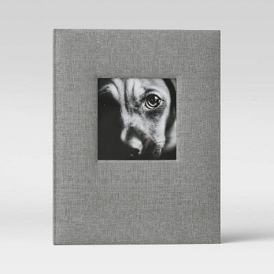 "4"" x 6"" Photo Album with Frame Front Gray 2 Per Page - Threshold™"