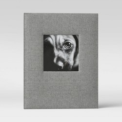 """4"""" x 6"""" Photo Album with Frame Front Gray 2 Per Page - Threshold™"""