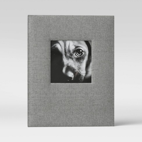 """4"""" x 6"""" Photo Album with Frame Front Gray 2 Per Page - Threshold™ - image 1 of 3"""