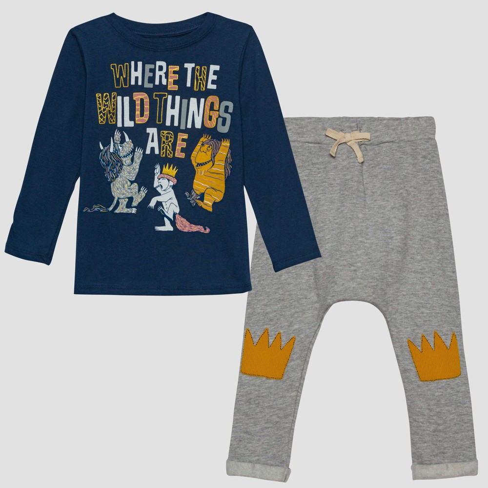 Toddler Boys' Where the Wild Things Are Wild Set - Blue/Gray 12M, Multicolored