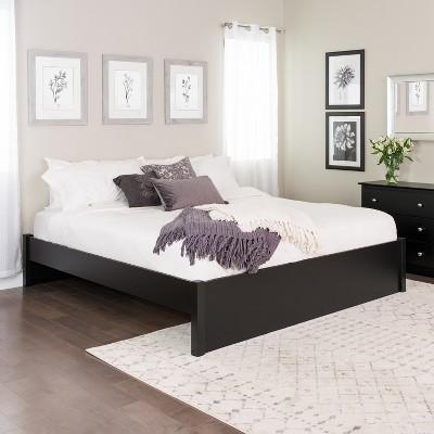 King Select 4 - Post Platform Bed Black - Prepac