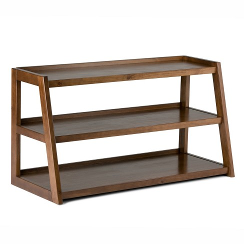 Hawkins Solid Wood TV Media Stand Medium Saddle Brown For TVs up to 50 inches - Wyndenhall - image 1 of 8