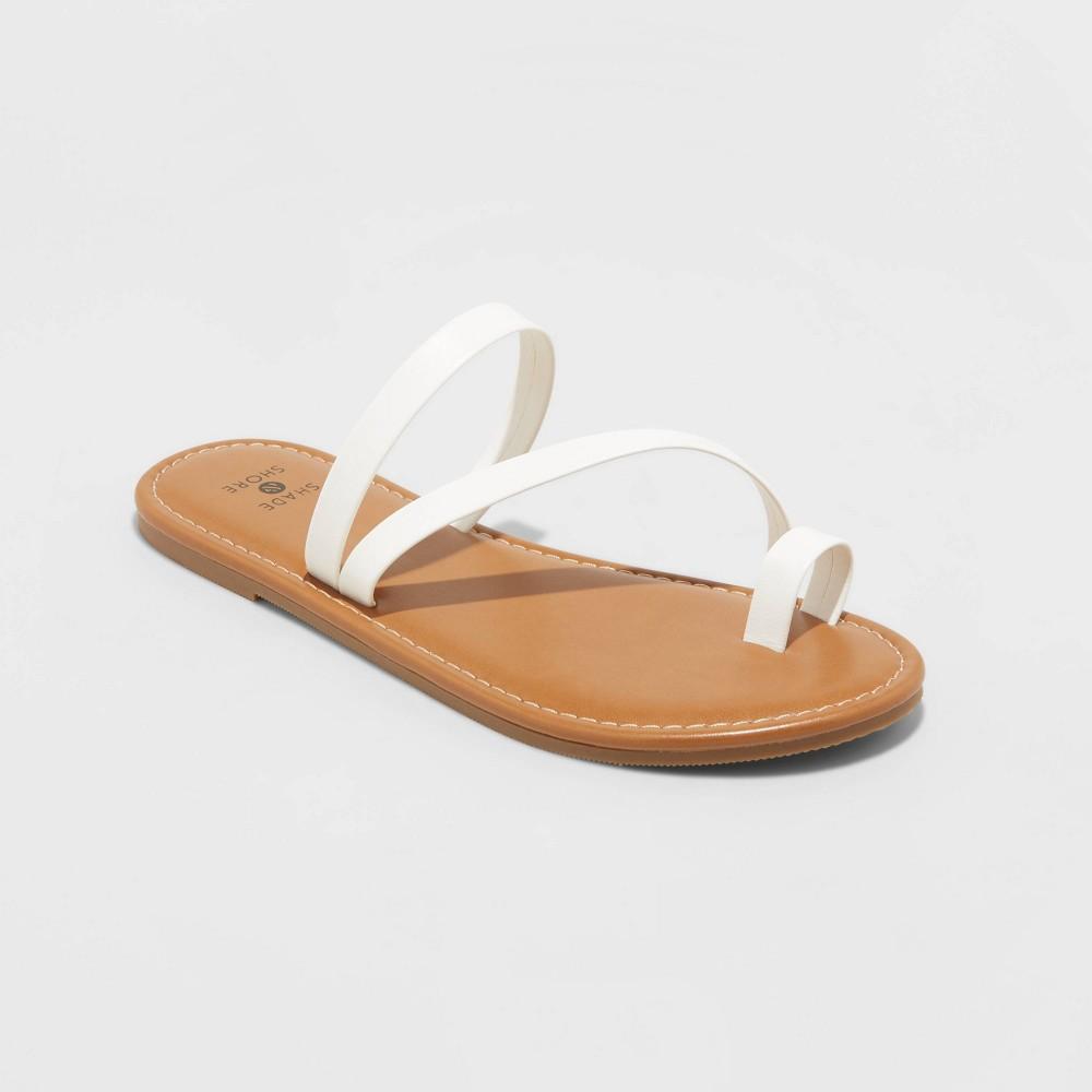 Women 39 S Andora Asymmetrical Toe Ring Sandals Shade 38 Shore 8482 White 5